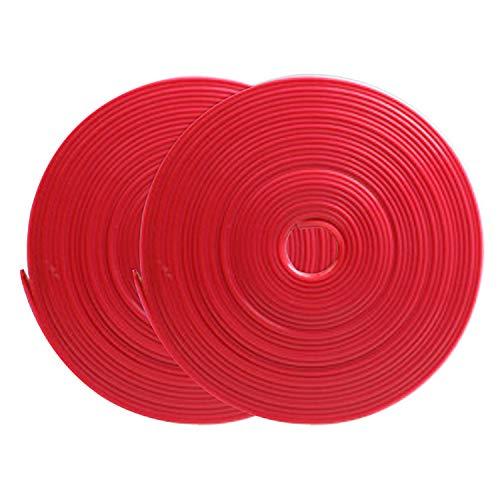Vococal 2 Rotoli 8 m Striscia di Protezione del Bordo Ruota Protezioni Rimblade per Bordi dei Cerchioni in Lega di Auto, Stampati in Gomma