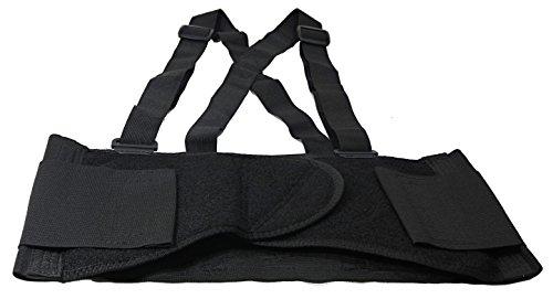 "Husky Medium Adjustable Hook and Loop Lumbar Support Belt With Adjustable Suspenders (Fits Waist Size 32"" to 38"")"