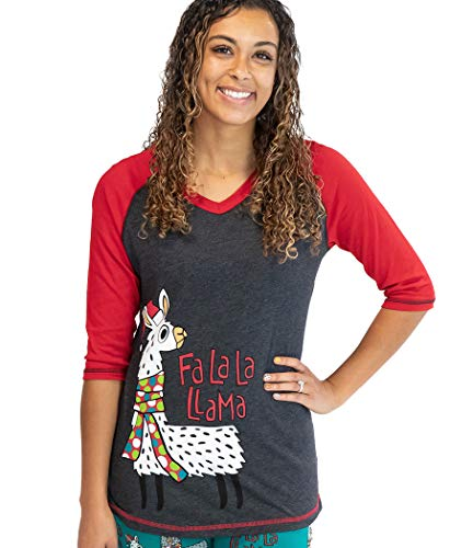 Lazy One Matching Family Pajama Sets for Adults, Teens, Kids, and The Dog (FA La La Llama, Small)