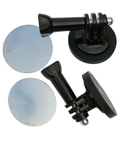 2-Pack FREAKMOUNT Freaky-Strong Rubber-Coated Magnetic Gopro Action Camera Mount w/Thumb Screws & Stick-On Metal Disc
