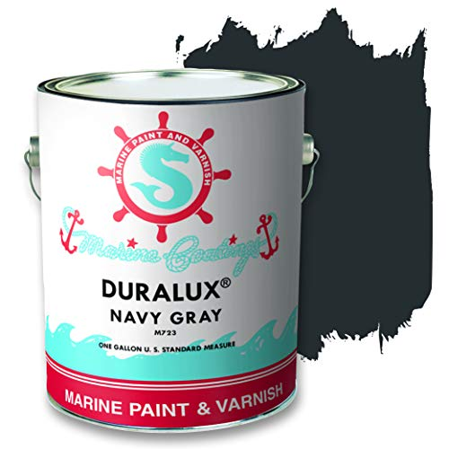 Duralux M723-1 Marine Paint, Navy Gray Boat Paint, 1 Gallon