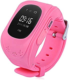 SeTracker Smartwatch Tracker for Kids with Micro Sim Card Support Smart Phone Control (Android, iOS), SOS Call, Touch Screen, Camera, Flashlight and More -Pink