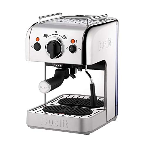 Dualit Coffee & Tea Machine Range 1.4 - 1.5L Capacity - Stainless Steel & Aluminium Body - Multi-Brew Technology - Automatic Memory Recall Dosing - Filter Holder, Ultrafast Heater & Frother