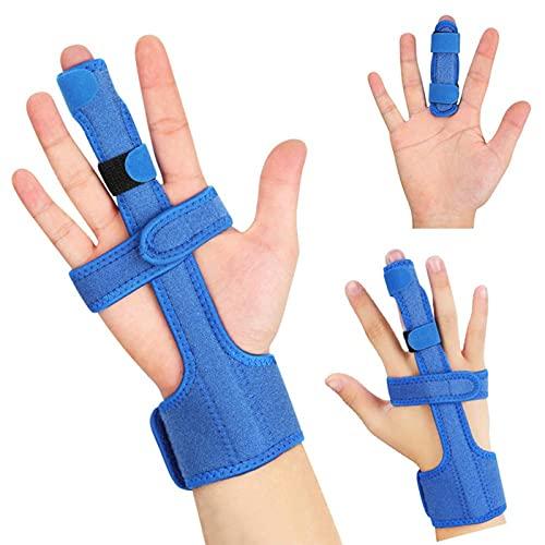 Fingerschiene Fingerorthese, Verstellbare Fingerschiene Mittelfinger mit Aluminiumstütze für Kleiner Finger, Ringfinger, Verlängerung Begradigung Arthritis Mallet Finger und Arthrose Tenosynovitis