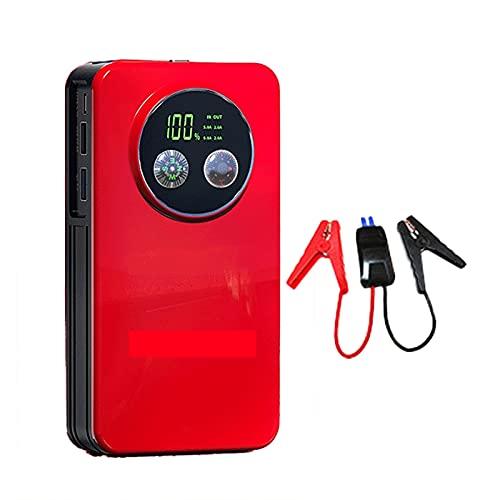 1500A 28800mAh Car Jump Starter Batería emergencia Booster Herramienta eléctrica portátil exteriores 6.0L Gasolina 4.0L Motor diesel Cargadores inteligentes USB 12V linterna LED ( Color : 17800mAH )