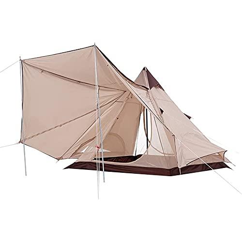 Massage-AED Carpa piramidal para Acampar al Aire Libre Carpa de Playa India de Doble Capa A Prueba de Lluvia...