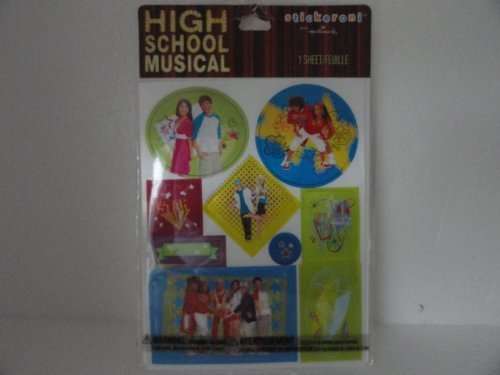 High School Musical Stickers - They Change Pictures When You Move Them - 1 Sheet by Stickeroni (Zac Efron Singing High School Musical 1)
