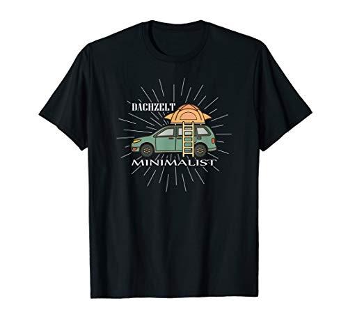Dachzelt Minimalist Tshirt - Camping T Shirt Geschenkidee T-Shirt
