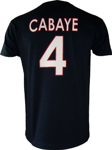 PARIS SAINT-GERMAIN T-Shirt PSG - Yohan CABAYE - N°4 - Collection Officielle Football Club Ligue 1 - Taille Adulte Homme XL