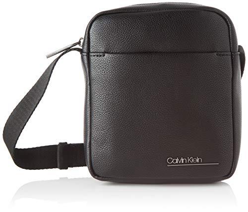 Calvin Klein Ck Bombe' Mini Reporter - Borse a spalla Uomo, Nero (Blackwhite Black), 1x1x1 cm (W x H L)