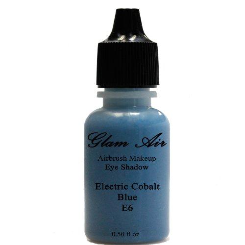 Aerógrafo Make Up por Glam–Aire grande botella aerógrafo E6eléctrico azul cobalto sombra...
