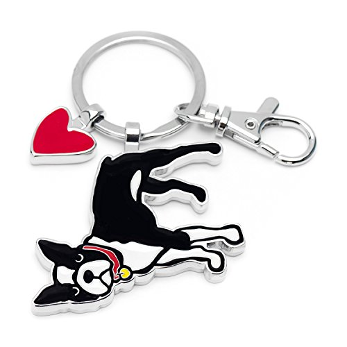 Marc Tetro Dog Keyrings (Boston Terrier)