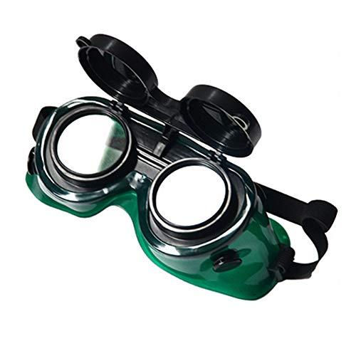 Denret3rgu Gafas de protección para soldar gafas antirreflejantes antirreflejantes para soldar - Negro