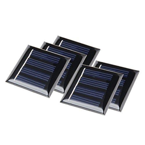 sourcing map 5Pcs 2V 40mA 40mmx40mm Pequeño Módulo de Panel Placa Solar de Polivinílico para Cargador de Juguetes