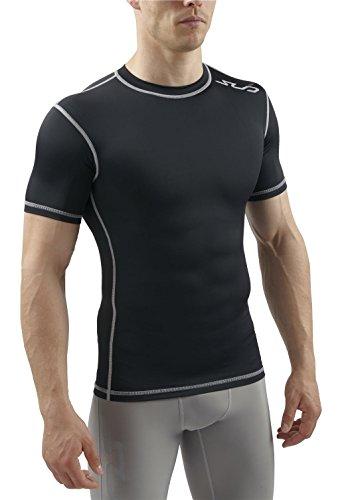 Sub Sports Dual T-Shirt de Compression Manches Courtes Homme, Noir, FR : L (Taille Fabricant : L)