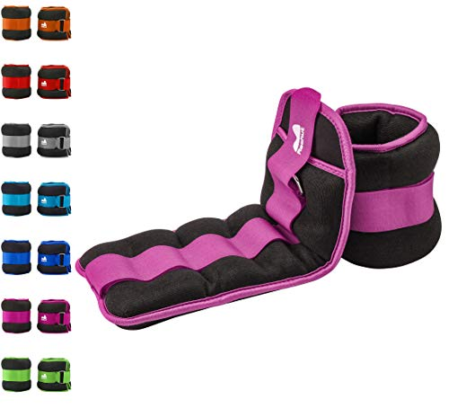 REEHUT Ankle Weight, Durable Wrist Weight 1 Pair Adjustable Strap for Fitness, Exercise, Walking, Jogging, Gymnastics, Aerobics, Gym(Purple)