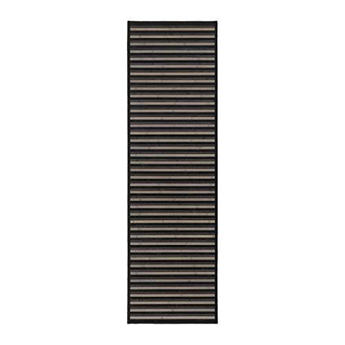 Alfombra pasillera de bambú Negra de 60x200 cm - LOLAhome