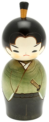 Usaburo Japanische Kokeshi Puppe, Hiro der Junior Samurai
