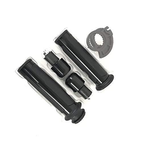 Puños de Motocicleta 7/8'Hoja de 22 mm Universal y regatas CNC de Aluminio for Caps Barracuda Manillar de la Motocicleta/apretones de Manillar for z800 versión/E Moto Manillar (Color : Black)