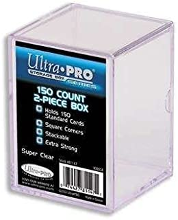 Ultra Pro 2-Piece Clear Card Storage Box | Holds 150 Standard Cards | 3 Boxes Total
