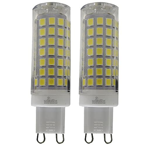Pack 2x Bombillas LED G9 De 8w. REGULABLE. Color Blanco Frio (6500K). Equivalentes A Bombillas Halógenas De 70W. 700 Lumenes. Base Cerámica.