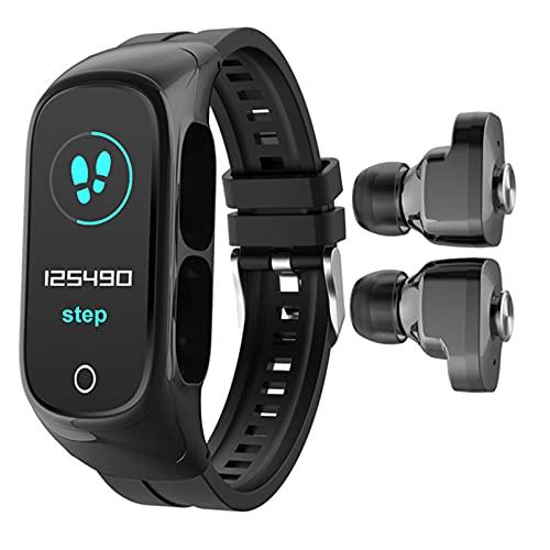 HQPCAHL Reloj Inteligente Smartwatch Compatible Android iOS con Llamada Bluetooth, Monitor de frecuencia cardíaca/presión Arterial, Relojes Deportivos para Hombres Mujeres Niños,Negro