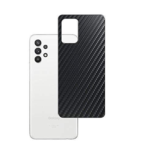 VacFun 2 Piezas Protector de pantalla Posterior, compatible con Samsung Galaxy A32 5G SCG08, Película de Trasera de Fibra de carbono negra