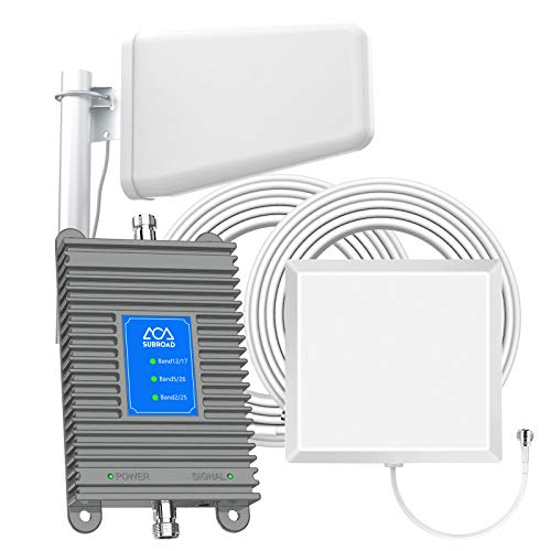 ATT Cell Phone Antenna Booster for Home GSM 3G 4G LTE Band 2/5/12/17 AT&T T-Mobile U.S. Cellular Cricket Cell Phone Signal Booster Boost Voice and Data Cover Up to 4,000 Sq Ft