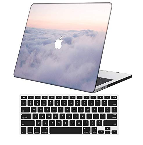 NKDCase Case for MacBook Air 13 inch Model A1369/A466 Cut Out Design,Plastic Ultra Slim Light Hard Case Keyboard Cover Compatible MacBook Air 13 Inch 2010-2017 Release No Touch ID,Sky Series 0860