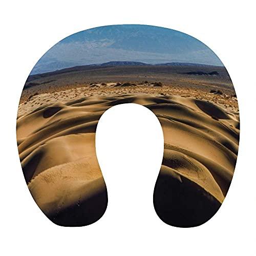 Almohada Cervical Viaje, U Shape Cojin Cuello Viscoelastica, Almohada Antironquidos, Almohada Ortopédic, para el Aeroplano, el hogar, el Oficina (Desierto)