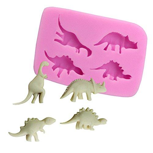 Beiersi Dinosaurier Silikon Form für Fondant Marzipan Tortendeko Ausstecher Seife Dekoration Werkzeug (Stil 1)