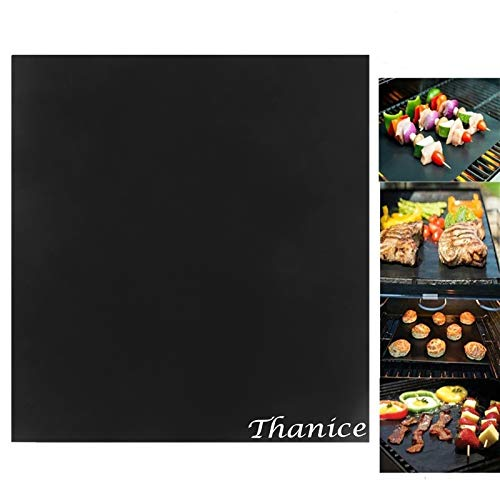 Best BBQ Grill Mats Set of 4 Heavy Duty 600 Degree Non-Stick Baking Mats Reusable Easy to Clean Dishwasher Safe, Work on Gas Charcoal Electric Grilling Accessories Outdoor BBQ Baking and Oven Liner