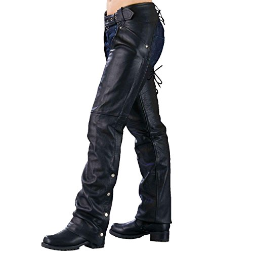 Ladies Biker Chaps with LACES ON THE BACK … (Medium)