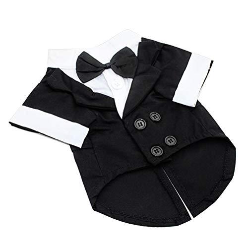 POPETPOP Kleiner Hund Abendessen Jacke Anzug Baumwolle Welpen Warme Jacke Mantel Trainingsanzug Haustier Winter Outfits Kleidung Bekleidung Größe XS (Schwarz)