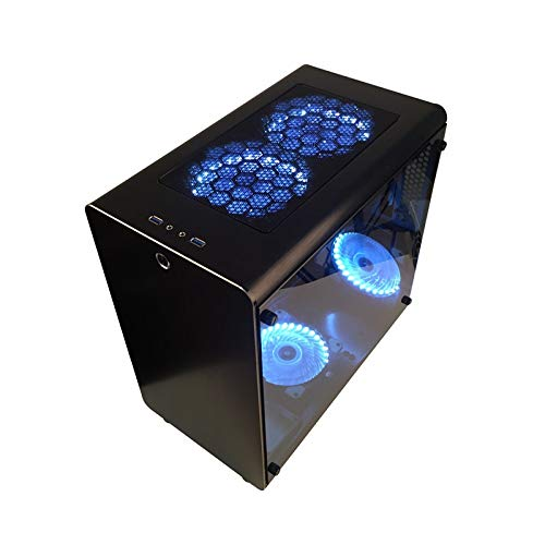 PC Gamer Case Tower Cooling Cabinet Computer Mini Empty Chassis All-Aluminum Motherboards Transparent Dust Proof Best