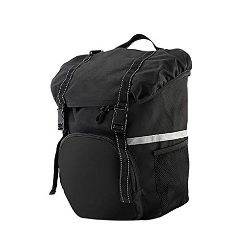 HLR Fietsen Panniers Rack Trunks Fiets Achterbank Duffel Tas, 15L Eenzijdige Fietsenrek Tag, Geschikt voor Mountainbike, Road Bike, Recreational Bike, Vouwfiets, enz. Panniers Rack Trunks