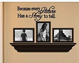 Wall Art Sticker Because Every Picture Has A Story to Tell Quote Lettering Home Decoration Decal