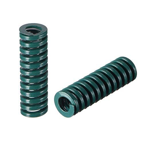 8 mm OD 25 mm lange Spirale Prägung Kompressionsform schwer der Frühling grün 5 Stück