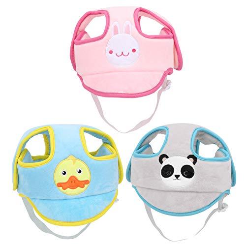 Baby-Schutzhelm, atmungsaktiver Kopfschutz aus Baumwolle, verstellbarer Schutzhelm aus Baumwolle(GRAU)