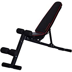 MULTIFUNCTION TALENT! Professional dumbbell foldable 3 in 1 studio weight bench, NEW - 2-way adjustable seat, intelligent folding system, no assembly required, pin-secured adjustment system, including the new 24-page training guide with 33 exercise examples and a beginner training plan