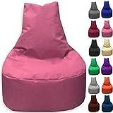 Sitzbag Sitzsack Sessel XL - XXL für Kinder und Erwachsene - In & Outdoor Sitzsäcke Kissen Sofa Hocker Sitzkissen Bodenkissen (XL - 68cm Durchmesser, Pinkrosa)