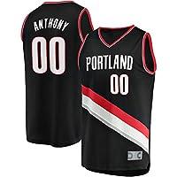 ジャージー スポーツウェア Portland Trail Blazers #00 Carmelo Anthony 2019/20 Fast Break Replica バスケットボール ユニフォーム スポーツ シャツ Tシャツ