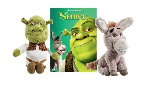 Dreamwork Shrek and Donkey Soft Toy with Shrek DVD.