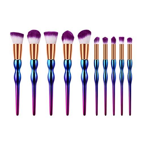 WINJIN Pinceaux Maquillages Brosse a Maquillage Ensemble de brosses Pinceaux de maquillage coloré Rainbow Pinceau Fond de Teint Ombre à Paupières Eyeliner Yeux Visage Poudre