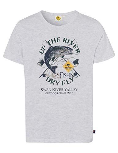 ROADSIGN Australia Herren T-Shirt mit Angler-Print weiß   XL