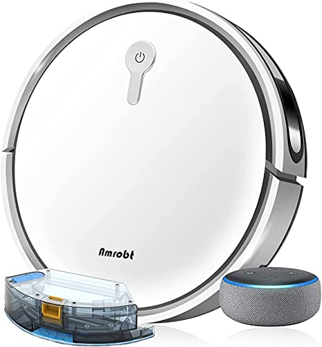 Robot Vacuum and Mop Cleaner, 300ML Larger Water Tank, Suction Boost, Daily Schedule, GYRO Navigation, Compatible with Alexa