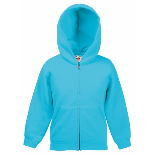 Classic Hooded Sweatjacke Kids - Farbe: Azure Blue - Größe: 152 (12-13)