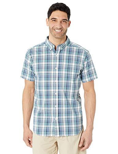 Columbia Men's Rapid Rivers II Short Sleeve Shirt, Bluestone Multi Plaid, X-Large