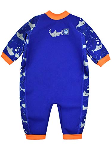 Splash About Babies Warm-in-One Wetsuit (Shark Orange, 6-12 Months)