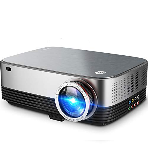 VIVIMAGE C680 Native 1080p Projector, 6500 Lux Full HD LED Home Theater Movie Projector 60Hz Compatible TV Stick, HDMI, VGA,...